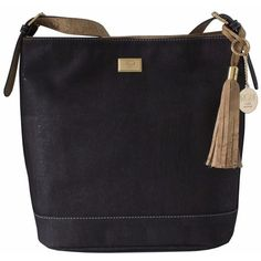 This Cork Hobo Bag in Black and Natural offers classic colors in a cool, relaxed design. The natural cork tag and strap inner provides a counterpoint to t Vegan Handbags, Line Design, Beautiful Bags, Hobo Bag, Fashion Bags, Women's Fashion, Dooney Bourke, Lady, Outfit