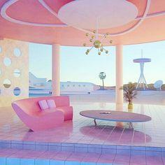 Grace Casas - Airport on Mars, 2067 Futuristic Interior, Retro Futuristic, Interior Architecture, Interior And Exterior, Minimalist Architecture, All The Bright Places, Retro Interior Design, New Retro Wave, Aesthetic Rooms