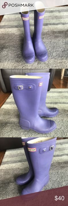 Hunter Rain boots Purple Hunter rain boots Hunter Boots Shoes Winter & Rain Boots