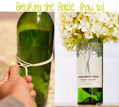 How to cut a bottle without using any cutters. Make adorable vases from your favorite wine bottles. if-only-i-were-crafty