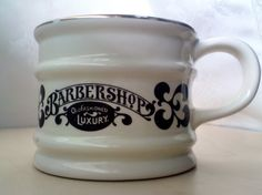 Cream Barber Shop Shaving Mug Old Fashioned Luxury