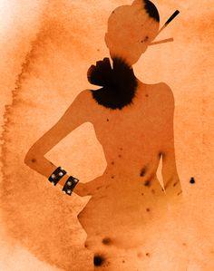 Ах, какие женщины!... Акварель Kareem Iliya (Карим Илья). Обсуждение на LiveInternet - Российский Сервис Онлайн-Дневников