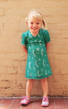 This #turquoise and #lace #Matooka dress is great for #dressy occasions, but can be dressed down for a BBQ with a great pair of #Toms  http://www.devlishangelz.ca/