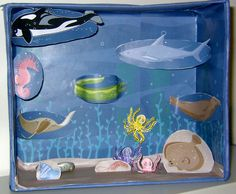 Ocean Ecosystem Diorama Submited Images Pic 2 Fly Science Biology, Science Fair, School Projects, School Ideas, Biome Project, Ocean Diorama, Ecosystems Projects, Ocean Ecosystem, Biomes