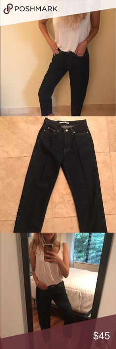 Tommy Hilfiger High Waisted Jeans Tommy Hilfiger High Waisted Jeans. In great condition and look like new. They're fitted at the waist and loose at the bottom. Tommy Hilfiger Jeans Flare & Wide Leg
