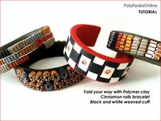 PolyPediaOnline Tutorials - Polymer Clay Jewelry - Folding, Rolling and Weaving Polymer Clay by Iris Mishly, via Flickr