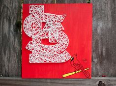 St. Louis Cardinals String Art and Acrylic Painting - Wooden Sign on Etsy, $38.00