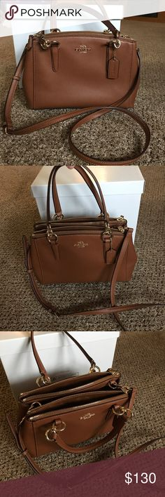 BRAND NEW CHRISTIE CARRYALL COACH CROSSBODY Brand New without tags. Beautiful coach bag, crossbody can be removed! 3 main compartments. Coach Bags
