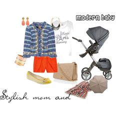 """Stylish mom and baby"""