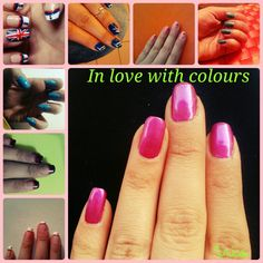 Coloured nails / in love white colours