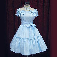 Short Sleeve Knee-length Cotton Sweet Lolita Dress