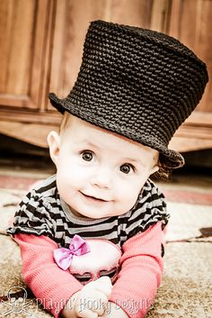 Baby Top Hat free crochet pattern by Playin' Hooky Designs #crochet #halloween #tophat