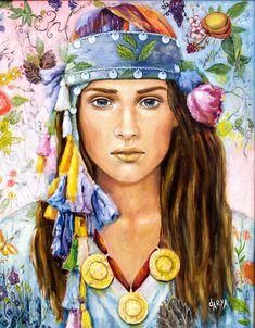 Oil Pastel Paintings, Paintings I Love, Woman Painting, Figure Painting, Most Beautiful Paintings, Fashion Illustration Face, Mystique, Watercolor Fashion, Decoupage