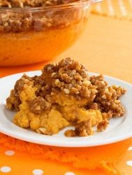 Sugar-Free Sweet Potato Casserole Recipe - Low-Carb Sweet Potato Crunch