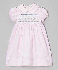 This Sweet Dreams Pink Triple Bunnies Smocked Dress - Infant, Toddler & Girls by Sweet Dreams is perfect! #zulilyfinds