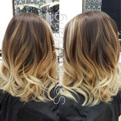 I don't like the ombre on short hair but I do like this length!!