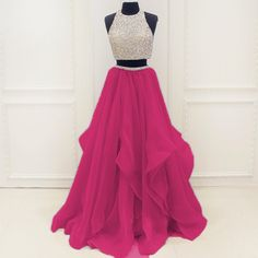 Prom Dresses 2018 Two Pieces Prom Dress, Sweet 16 Dresses, Prom Dresses, Graduation Party Dresses, Ball Gown Prom Dresses Two Piece, Prom Dresses 2018, Prom Dresses For Teens, A Line Prom Dresses, Modest Dresses, Dance Dresses, Pretty Dresses, Evening Dresses, Formal Dresses