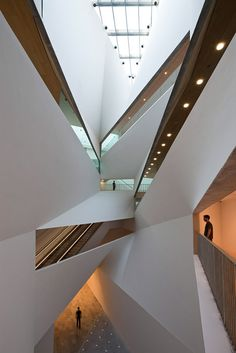 Interior architecture Tel Aviv museum of modern art.