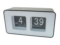 Modern Classic Flip Clock Desk Wall Black Rectangular | eBay