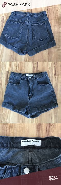American Apparel high waited denim shorts Only worn once! Absolutely great condition, like new. American Apparel Shorts Jean Shorts