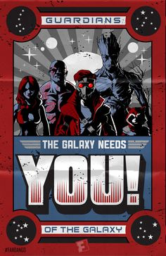 'Guardians Of The Galaxy' propaganda style poster created exclusively for Fandango by Jeff Welborn.
