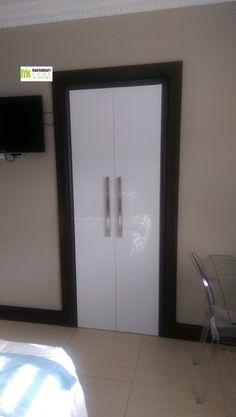 High gloss Niemann SA boards on existing carcass by MasterKraft Home Interiors Interior Work, High Gloss, Boards, Interiors, Mirror, Simple, Furniture, Home Decor, Planks