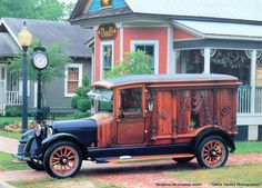 1921 Rockfalls Hearse. Scan by Headless Fritz of the American Funeral Service collector calendar, 1996