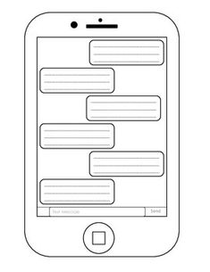Blank iphone template teaching pinterest blank space bulletin selfie back to school get to know you writing prompt template teacherspayteachers maxwellsz