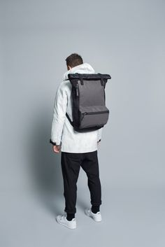 Rolltop Backpack // Black | Nocturnal Workshop