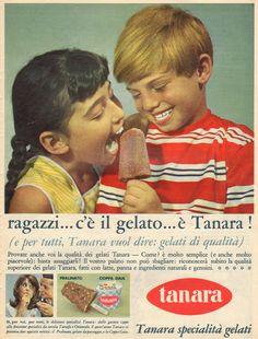 tanara-gelati-ghiacciolo Vintage Italian Posters, Vintage Advertising Posters, Poster Vintage, Vintage Advertisements, Vintage Ads, Foto Vintage, Ice Cream Poster, 1990s Kids, Italian Lifestyle