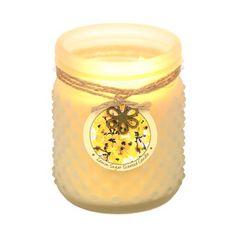 Lemon Sugar Hobnail Jar Candle