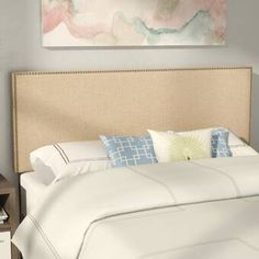Darby Home Co Kaye Upholstered Panel Headboard & Reviews | Wayfair King Size Headboard, Wingback Headboard, Panel Headboard, Queen Canopy Bed, Foam Panels, Bed Base, Adjustable Beds, Upholstery, Ragnar