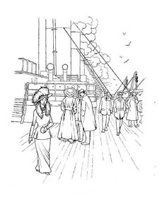 more titanic coloring pages.. pinning this for kids*cough cough*me ... - Titanic Coloring Pages Printable