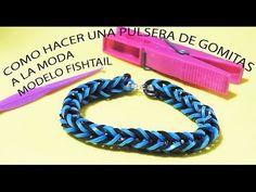 ▶ COMO SE HACE UNA PULSERA DE GOMITAS A LA MODA FISHTAIL. VIDEO TUTORIAL PARA NIÑOS - YouTube