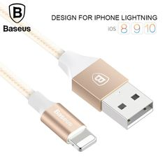 Baseus 2A USB Cable For iPhone 5 5s 6s 6 7 Plus Mobile Phone Charging Cable Data Sync Charger Cable 1m Wire For IOS 8 9 10 //Price: $5.19//     #shopping