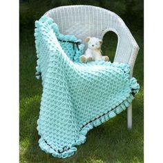 Free Intermediate Baby's Blanket Crochet Pattern