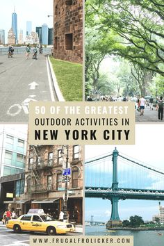 A list of 50 of the best outdoor activities in NYC, from cycling and walking through parks to drinking and dining alfresco. #nyc #newyork #newyorkcity New York Travel Guide, Usa Travel Guide, New York City Travel, Travel Usa, Travel Guides, Travel Tips, Activities In Nyc, Outdoor Activities, Adventure Time