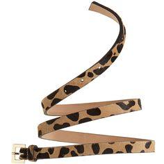 BELOW THE BELT Skinny Leopard Belt $125