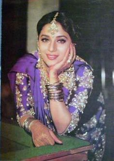 "Madhuri's Iconic sari from ""Hum Aake hain kaun"" designed by popular bollywood designer ""Neeta Lulla"""