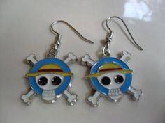 One Piece anime earrings. $6.99, via Etsy.