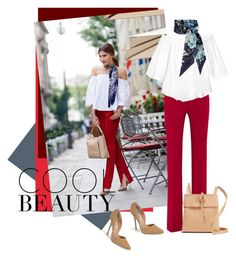 """""""Red pants"""" by noconfessions ❤ liked on Polyvore featuring Altuzarra, Rebecca Taylor, Gucci, Steve Madden and Kara"""
