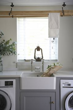 If you're looking Mulberry Cottage: Classic English Country Kitchen Laundry Room Remodel, Laundry In Bathroom, Kitchen Remodel, Laundry Rooms, Interior Design Living Room, Living Room Designs, Boot Room Utility, Utility Sink, English Cottage Kitchens