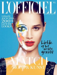 Floral Pop Art Editorials - Anais Pouliot Stuns in the L'Officiel Netherlands February 2014 (GALLERY)