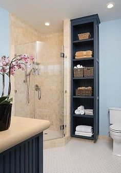 These are a must-have for any bathroom! A very stylish storage system for towels and toiletries.