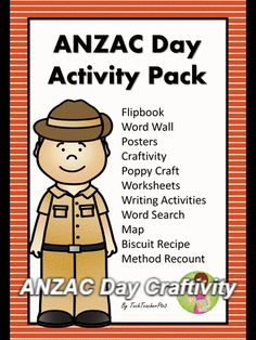 ANZAC Day Craftivity - a fun and engaging way to commemorate ANZAC Day this activity comes from the ANZAC Day Activity Pack perfect for the primary classroom. 5th Grade Social Studies, Social Studies Activities, Literacy Activities, Activities For Kids, Primary School Curriculum, Primary Classroom, Teaching History, Teaching Resources, Australia Crafts
