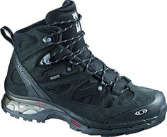 Salomon Mens Comet 3D GTX Backpacking Boot AsphaltBlackPewter 85 D US -- Check out this great product.(This is an Amazon affiliate link and I receive a commission for the sales)