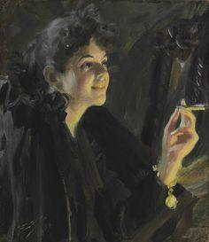 Anders Zorn (1860-1920), La Jeune Femme à la Cigarette - 1892