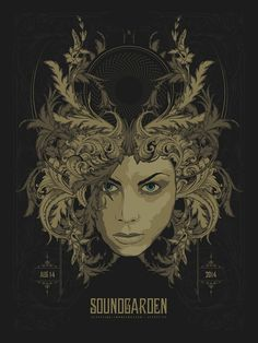 Soundgarden Austin Poster by Anonymous Ink & Idea