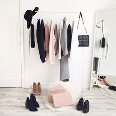 This organised mess. | 17 Minimalist Wardrobes That Will Make You Want To Throw Half Your Clothes Out