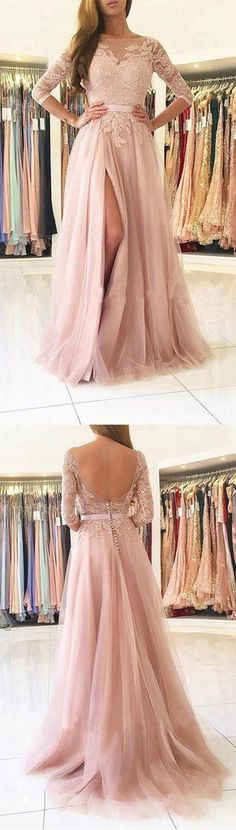 Prom Dress with Sleeves, Back To School Dresses, Prom Dresses For Teens, Graduation Party Dresses BPD0565 #fashiondresses#dresses#borntowear #dressforteenscasual